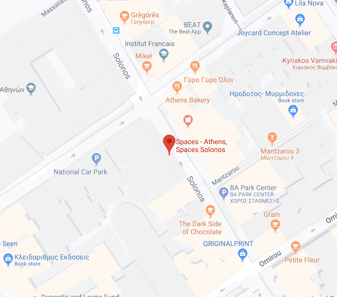 Athens office map